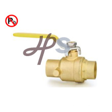 Lead Free Brass Solder Ball Valve Cxc with Drain